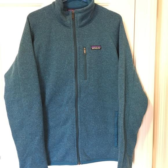 9a86a28fb1 Patagonia Men s better sweater jacket. Blue fleece.  M 5baa0d7e9fe486fe81895ee0